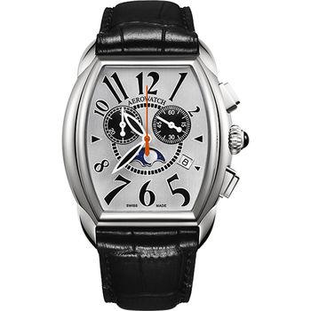 AEROWATCH 藝術酒桶型計時腕錶A84957AA03