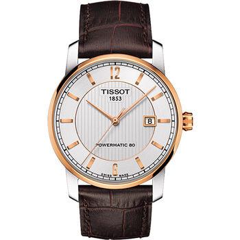 TISSOT T-Classic Powermatic 80【鈦】機械腕錶T0874075603700