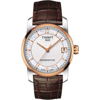 TISSOT T-Classic 【鈦】時尚機械女錶T0872075611700