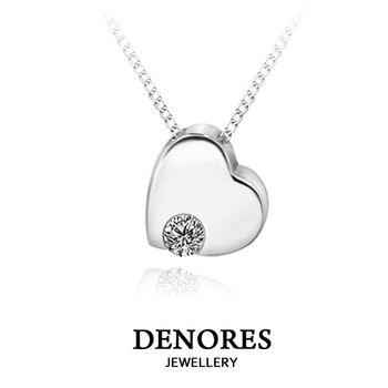 DENORES Simple Love 0.10克拉天然美鑽項鍊