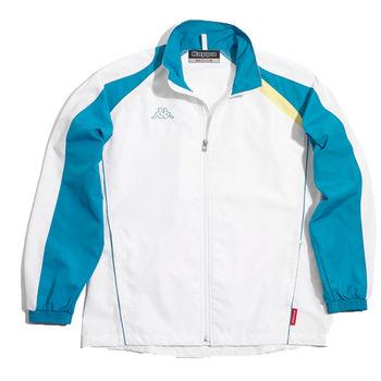 KAPPA義大利小朋友吸濕排汗速乾單層風衣~藍/白(C161-1807-0)