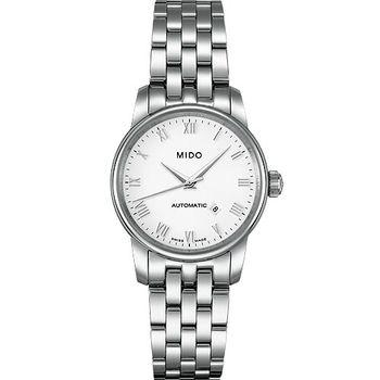 【MIDO Baroncelli】雅典女神機械鋼帶腕錶(銀)M76004261