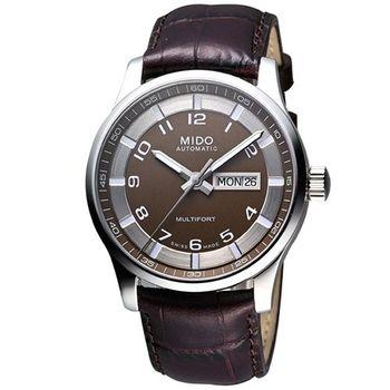 MIDO Multifort 先鋒系列時尚機械腕錶-咖啡M0054301629212