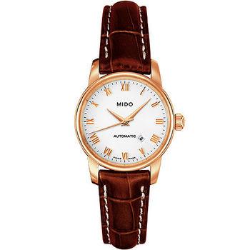 【MIDO Baroncelli】雅典女神機械皮帶腕錶M76003268