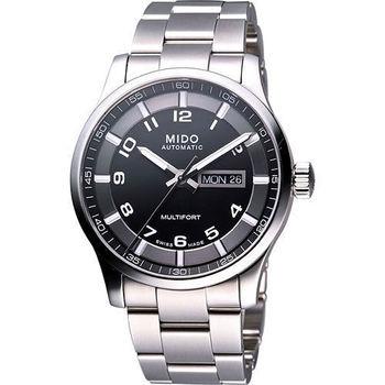 MIDO Multifort Gent 時尚機械腕錶-黑 M0054301105200