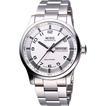 MIDO Multifort Gent 時尚機械腕錶-銀白 M0054301103200