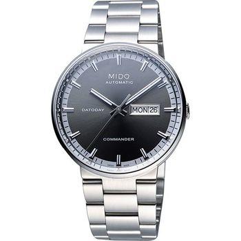 MIDO Commander II香榭系列第二代機械腕錶-灰/銀M0144301106100