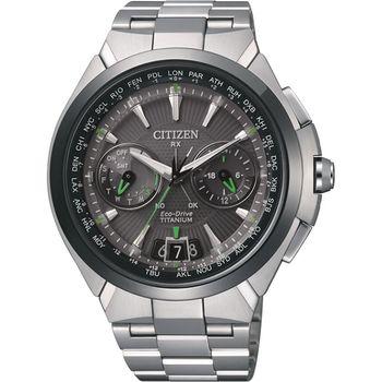 CITIZEN Eco-Drive 衛星對時旗艦【鈦】腕錶 CC1086-50E
