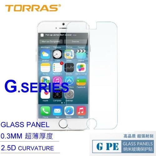 【TORRAS】APPLE iPhone 6 4.7吋防爆鋼化玻璃貼 G PE 系列 9H硬度 2.5D導角