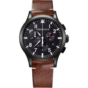 AEROWATCH Grace優雅風範三眼計時腕錶A83966NO03