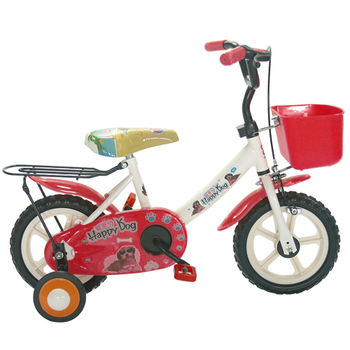 Adagio 12吋酷樂狗輔助輪童車附置物籃-紅色