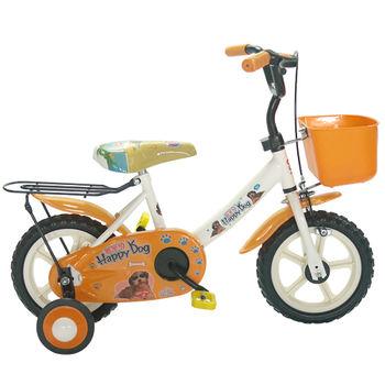 Adagio 12吋酷樂狗輔助輪童車附置物籃-橘色