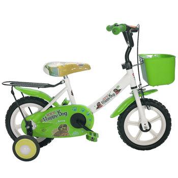 Adagio 12吋酷樂狗輔助輪童車附置物籃-綠色