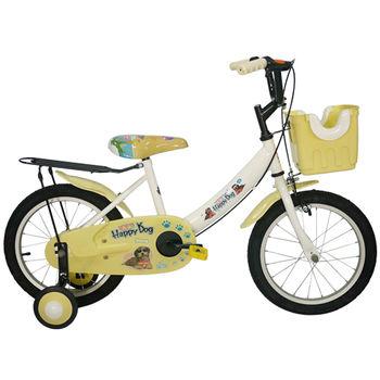 Adagio 16吋酷樂狗打氣胎童車附置物籃-米色