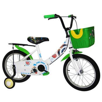 【Adagio】16吋酷樂狗打氣胎童車附置物籃-綠色