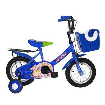 【Adagio】12吋大頭妹打氣胎童車附置物籃-藍色~台灣製造