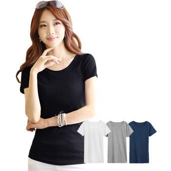 【ceres席瑞絲】超顯瘦修身剪裁設計四色任選日韓版女棉T/簡單就可以很美