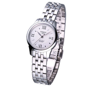 TISSOT 力洛克 女用自動機械腕錶 T41118333 白