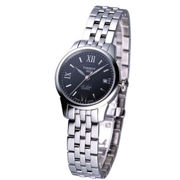 TISSOT 力洛克 女用自動機械腕錶 T41118353 黑面