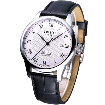 TISSOT 力洛克經典自動機械錶 T41142333 白面皮