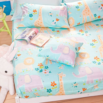 【OLIVIA】 肯亞大冒險 綠  單人床包枕套兩件組