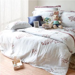 【Casa Aroma】卡布奇諾 天絲雙人特大床包兩用被四件組-6X7尺