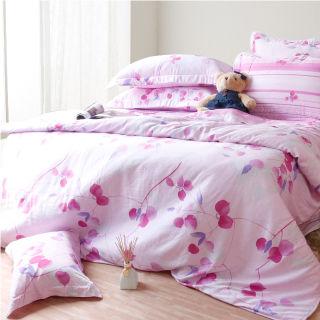 【Casa Aroma】花拓漫曲 天絲雙人特大床包兩用被四件組-6X7尺