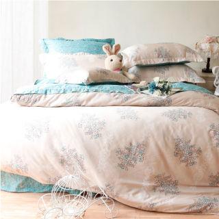 【Casa Aroma】綠色芬多精 天絲雙人特大床包兩用被四件組-6X7尺