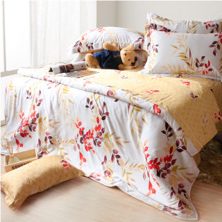 【Casa Aroma】夏日香氣 天絲雙人特大床包兩用被四件組-6X7尺