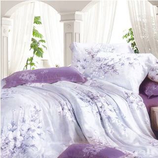 【Casa Aroma】愛如潮水 天絲雙人特大床包兩用被四件組-6X7尺