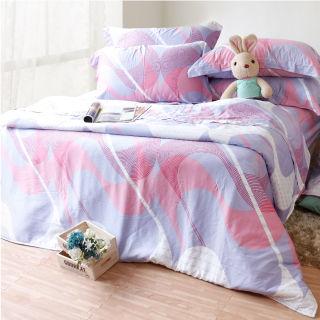 【Casa Aroma】法式生活 天絲雙人特大床包兩用被四件組-6X7尺