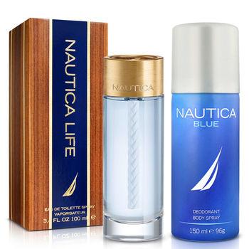 Nautica Life 航海生活 男性淡香水(100ml)-送體香噴霧劑(150ml)