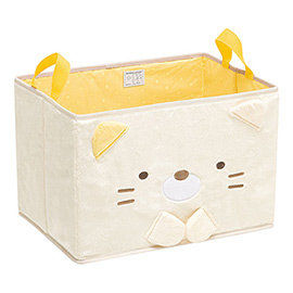 【SAN-X】 角落公仔緊緊窩角落系列毛絨收納置物箱。羞羞貓