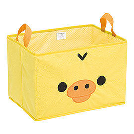 【SAN-X】 拉拉熊滿滿懶熊生活系列毛絨收納置物箱 小雞