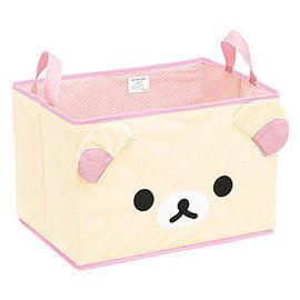 【SAN-X】 拉拉熊滿滿懶熊生活系列毛絨收納置物箱 懶妹