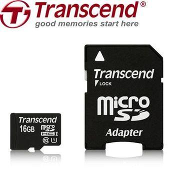 創見16G microSDHC Class10 UHS-I 記憶卡(附轉接卡)