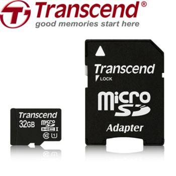 創見32G microSDHC Class 10 UHS-I / U1 記憶卡(附轉接卡)