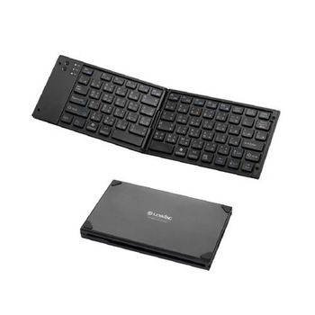 【LEXKING】藍芽天狼星摺疊鍵盤-黑(BT-7268)