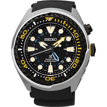 SEIKO Kinetic 怒海征服者GMT潛水200米腕錶5M85-0AB0Y
