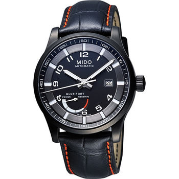 MIDO Multifort Gent 先鋒系列動力儲存機械腕錶-黑M0054243605222