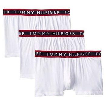 【Tommy Hilfiger】2014男時尚LOGO腰帶白色平角內著3件組【預購】