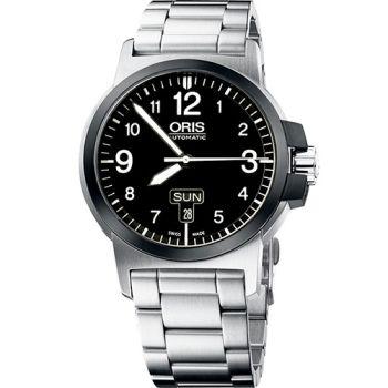 Oris BC3 Advanced 飛行機械鋼帶腕錶-黑/銀73576414364MB