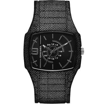 DIESEL 風暴瀑布大立體面腕錶-黑DZ1670