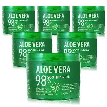 韓國KONAD aloe vera 98%蘆薈舒緩保濕凝露 500ml X6入