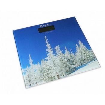【KINYO】大自然圖案電子體重計DS-6582