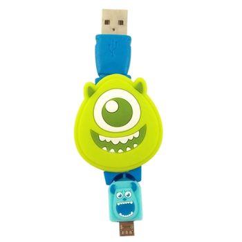 【Disney】Micro USB 造型伸縮傳輸線-大眼仔