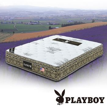 PLAYBOY 三線楓葉竹炭獨立筒床墊 雙人