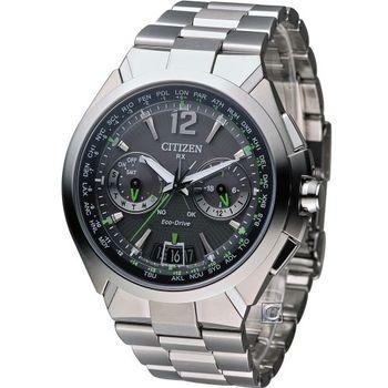CITIZEN 光動能浩瀚衛星對時腕錶 CC1091-50F