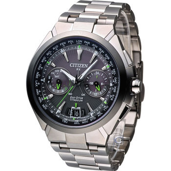 CITIZEN 光動能【鈦】金屬衛星對時腕錶 CC1086-50E