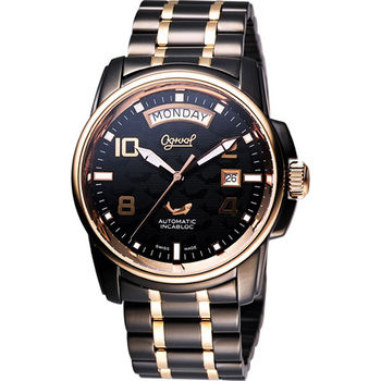 Ogival 愛其華 黑鷹系列因加百錄機械腕錶 3360AMBR